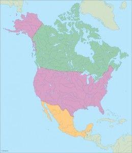America North City maps