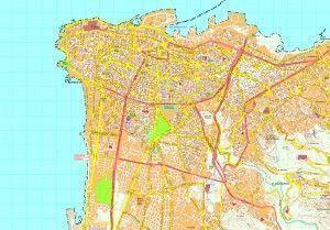 Beirut map