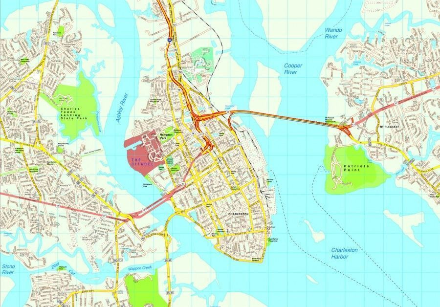 Charleston map