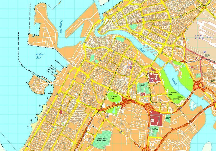 Map Of Asia Dubai.Dubai Map