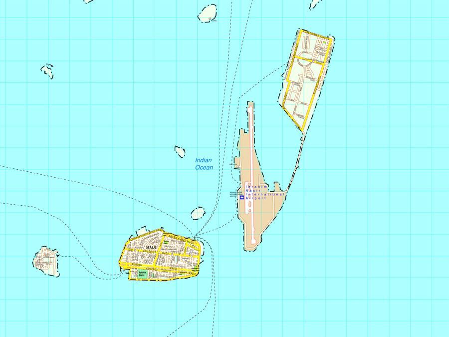 Maldives vector map   Vector and Wall Maps From United Kingdom