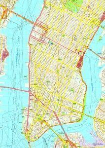 New York Manhattan map