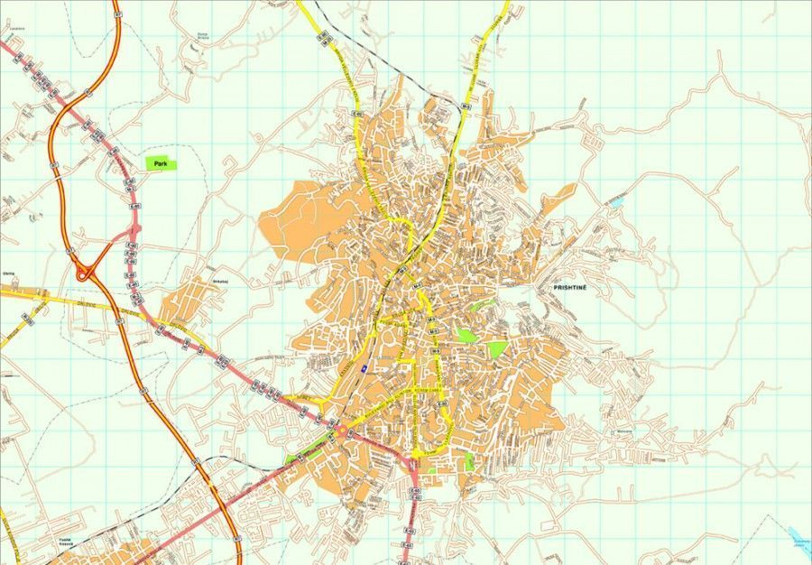 Pristina map