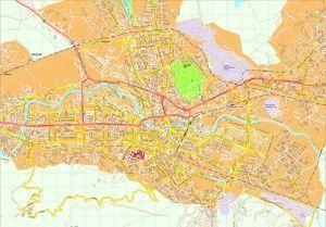 Skopje map