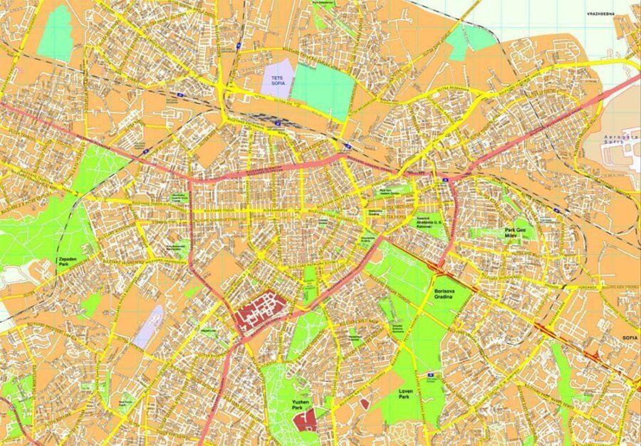 Sofia map
