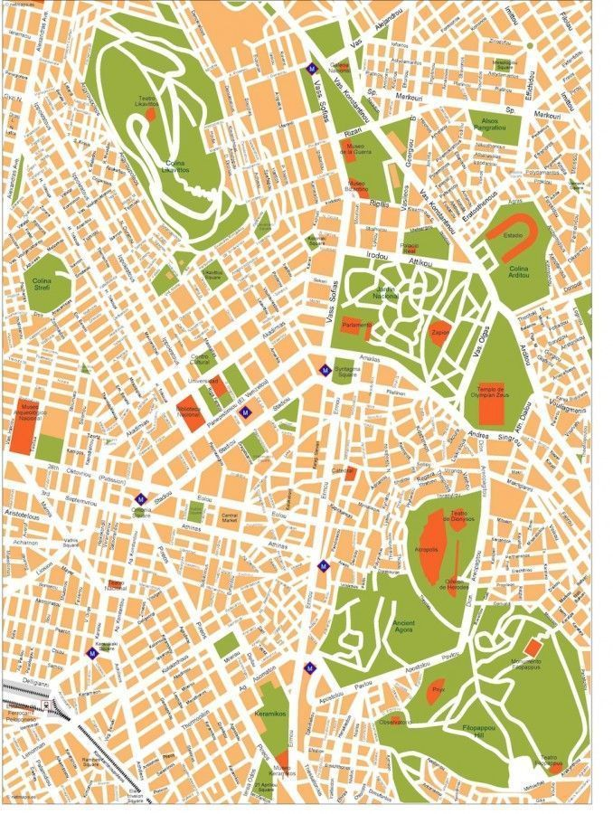 athens vector map