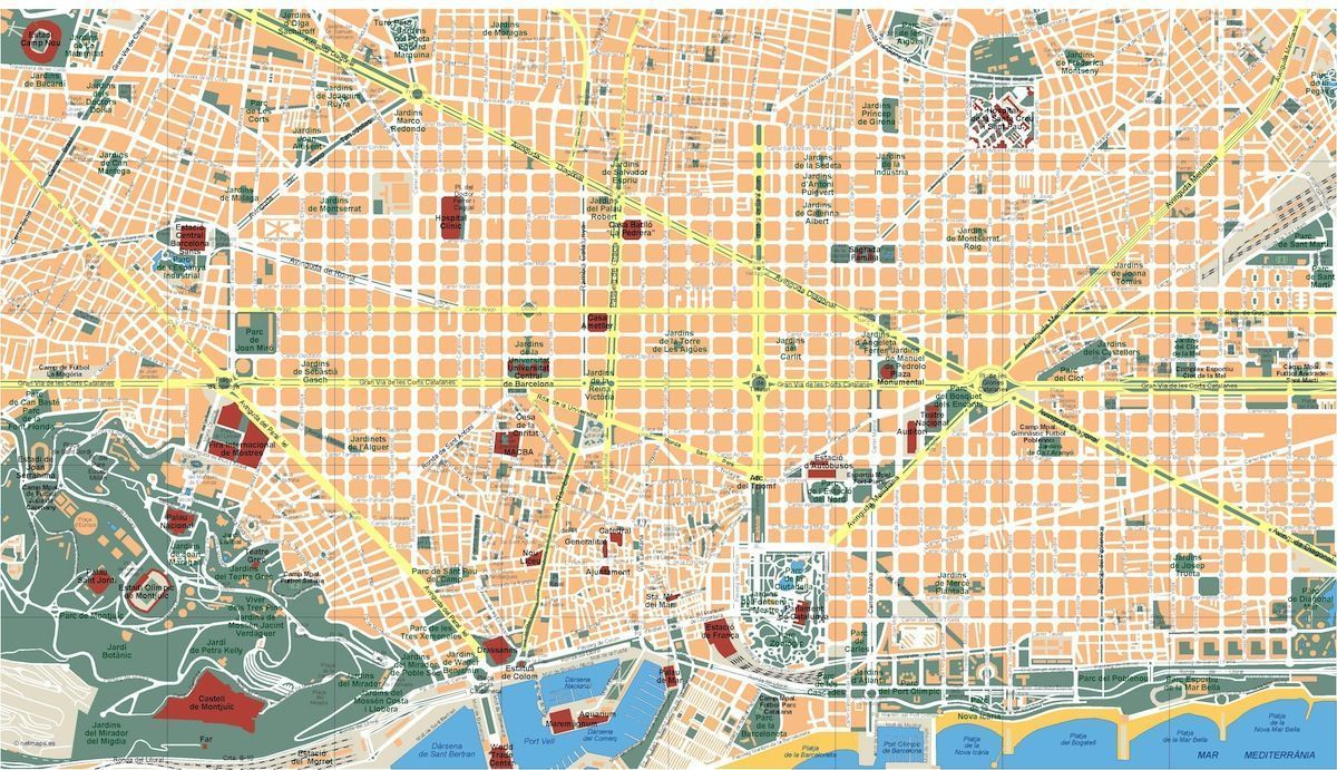 barcelona vector map