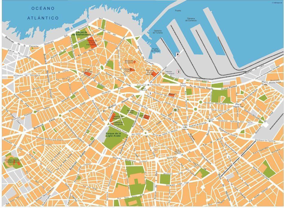 casablanca vector map