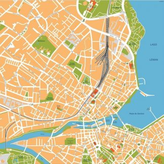 geneve vector map