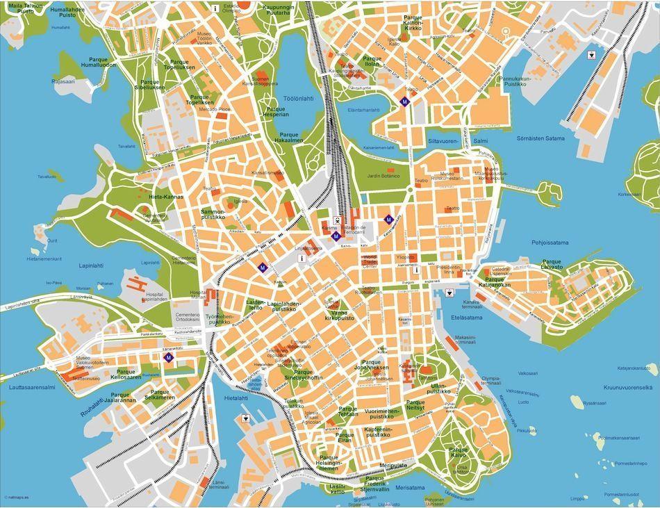 helsinki vector map
