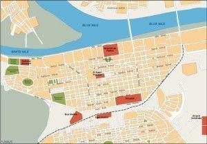 khartoum vector map