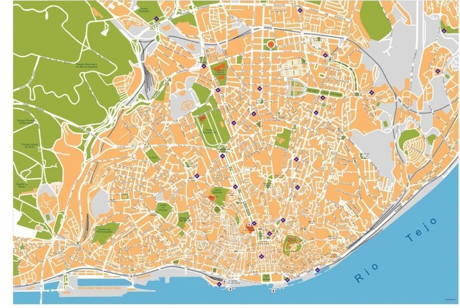 lisboa vector map