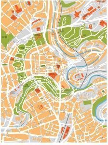 luxembourg vector map