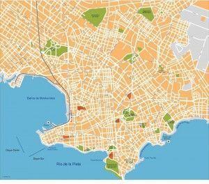 montevideo vector map