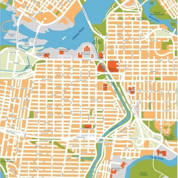 ottawa vector map