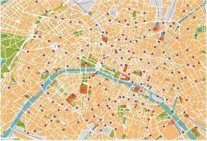 paris vector map