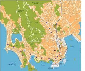 rio de janeiro vector map