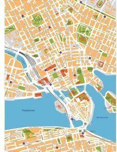 stockholm vector map