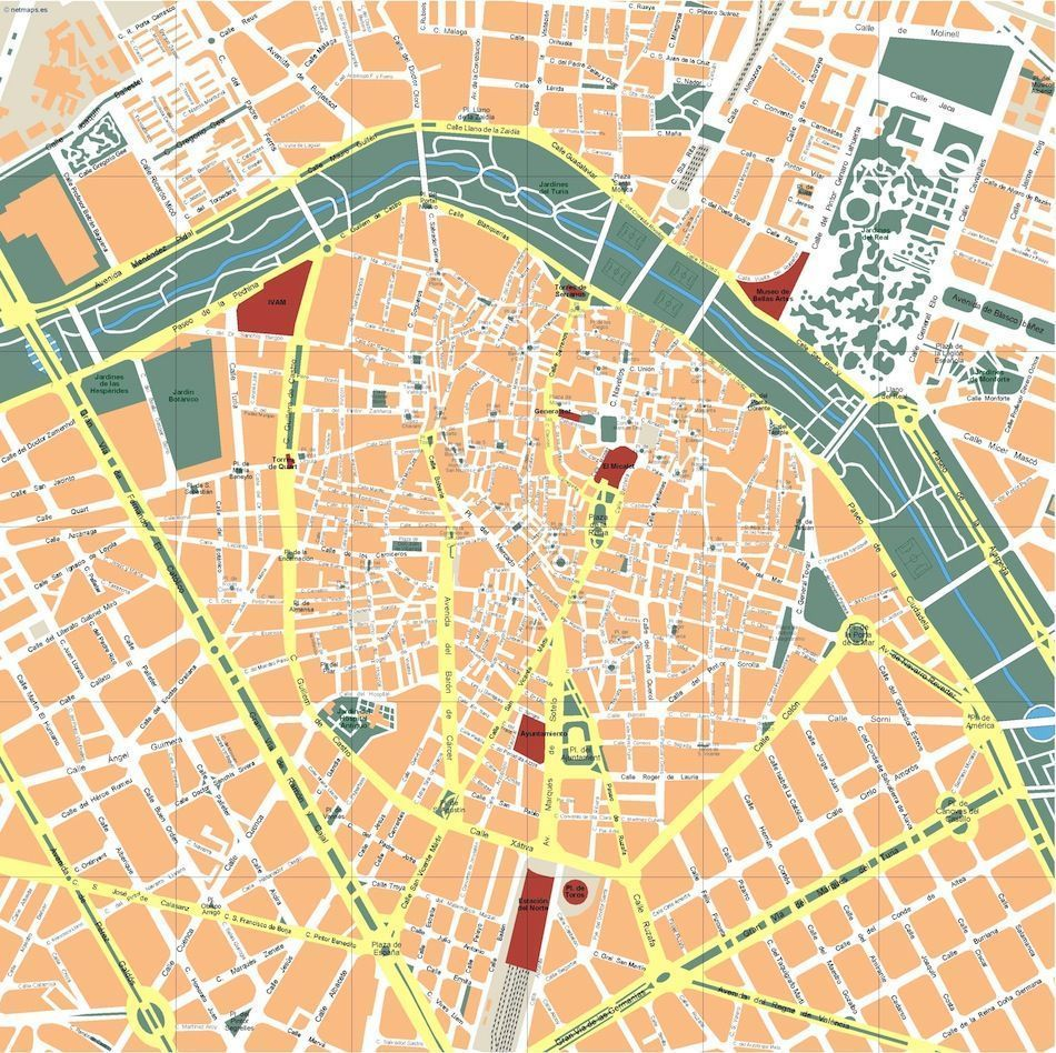 valencia vector map