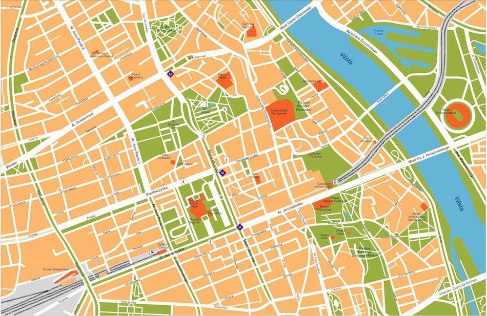 warsaw vector map