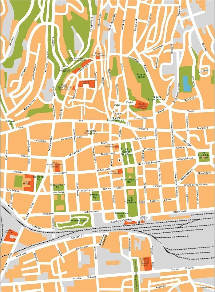 zagreb vector map