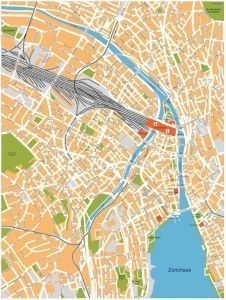 zurich vector map