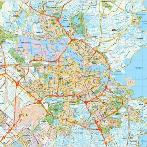 Amsterdam map vector