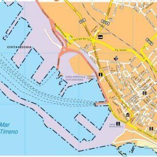 Civitavecchia map
