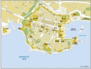 Dubrovnik vector map
