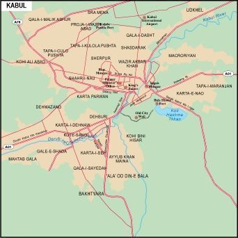 Map Of Asia Cities.Kabul City