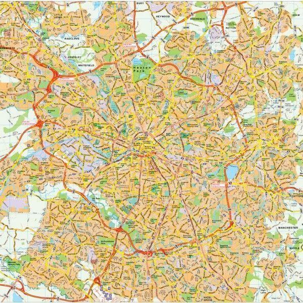 Manchester map vector