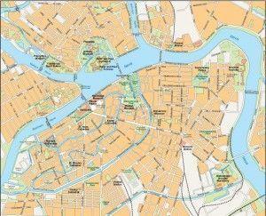 Saint Petersburg vector map