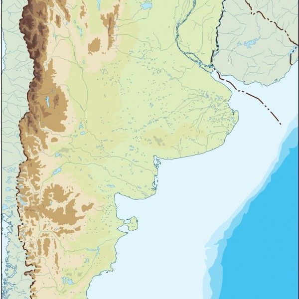 argentina illustrator map