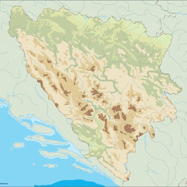 bosnia herzegovina illustrator map