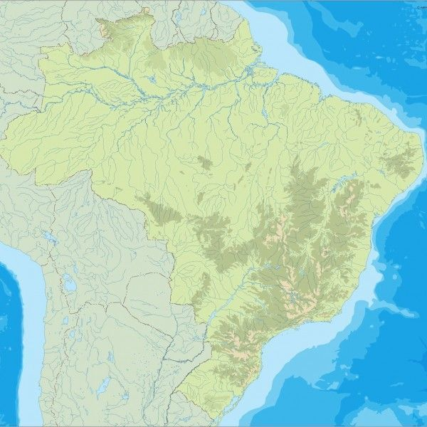 brazil illustrator map
