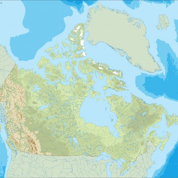 canada illustrator map
