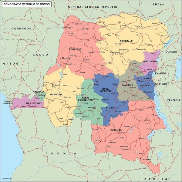 congo dem rep political map