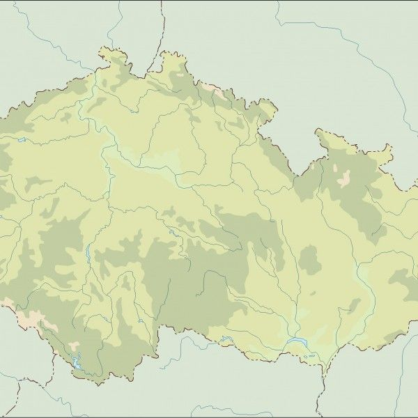 czech republic illustrator map