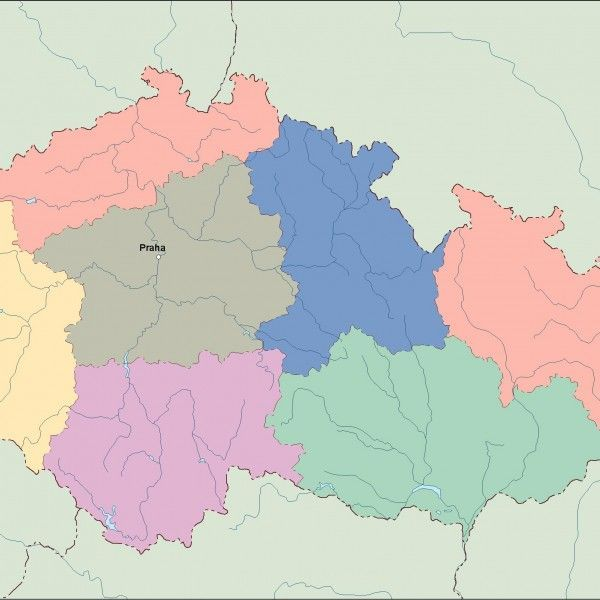 czech republic vector map