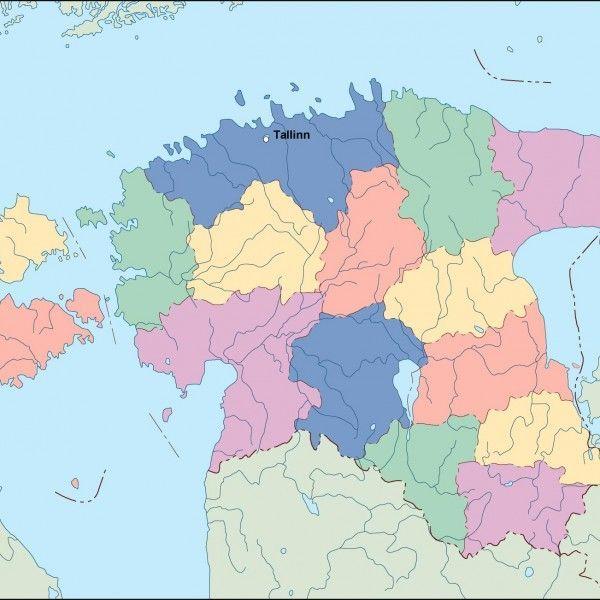 estonia vector map