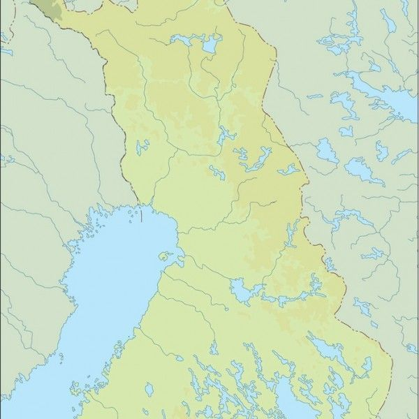 finland illustrator map