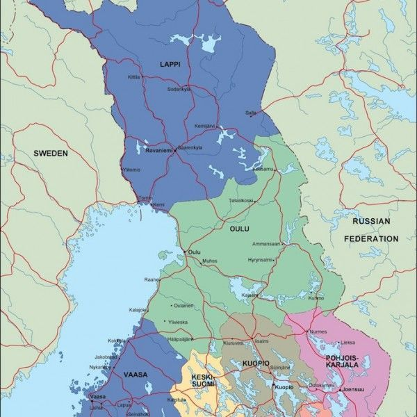 finland political map