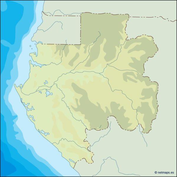 gabon illustrator map