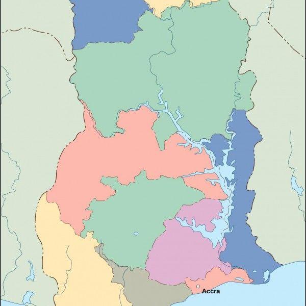 ghana vector map
