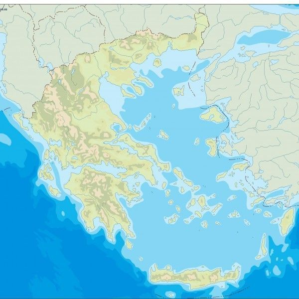 greece illustrator map