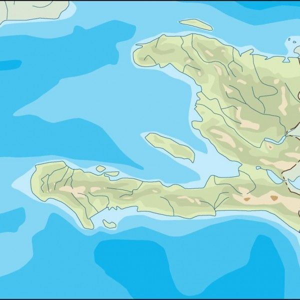 haiti illustrator map