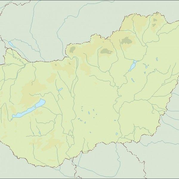 hungary illustrator map
