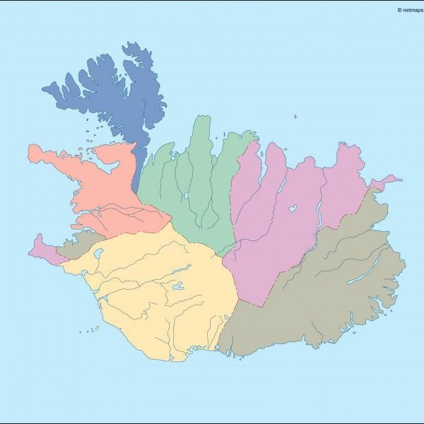 iceland blind map