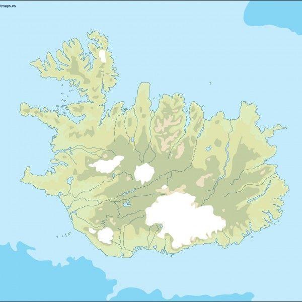iceland illustrator map