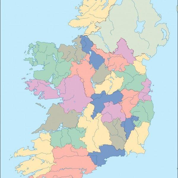 ireland blind map